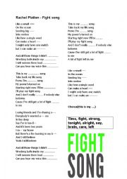 English worksheet: Rachel Platten - fight song