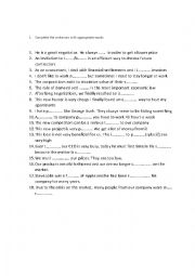 English worksheet: Business Vocabulary - Check yourself