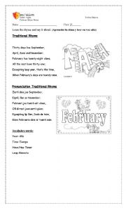 English worksheet: Traditional Rhyme