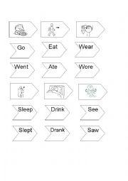 English worksheet: past irregular