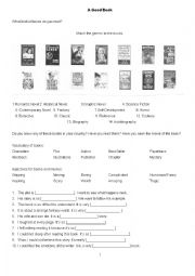 English worksheet: Talk About Reading