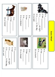 English Worksheet: Guess what (animals)