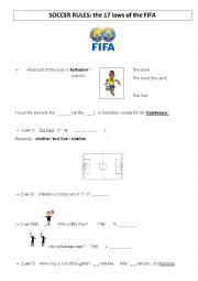 english worksheets soccer rules. Black Bedroom Furniture Sets. Home Design Ideas