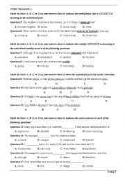 English Worksheet: Toeic reading