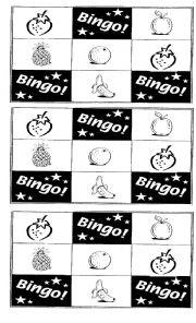 English Worksheet: Fruit Bingo!