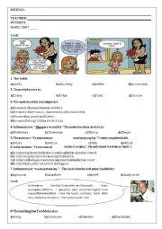 English Worksheet: 10th grade test