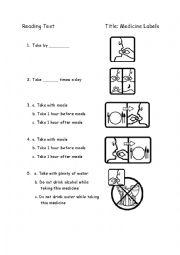 english worksheets medicine labels. Black Bedroom Furniture Sets. Home Design Ideas