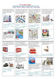 English worksheet: Let us visit London!