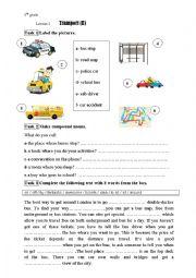english worksheets module 4 lesson 2 transport ii 8th grade. Black Bedroom Furniture Sets. Home Design Ideas
