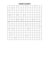 English Worksheet: Transport crossword