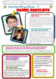 Interview to Daniel Radcliffe