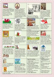 English Worksheet: Wales (legends and traditions)