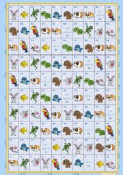 English Worksheet: Pets - Boardgame