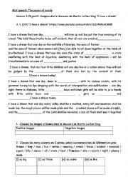 English Worksheet: MLK