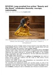 English Worksheet: Beauty and the Beast (2017) film review