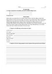 English Worksheet: Paraphrasing Activity - eBooks