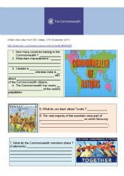 English Worksheet: The Commonwealth : origins and explanation