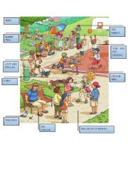 English Worksheet: At the park