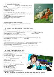 English Worksheet: 7 years by Lukas Graham