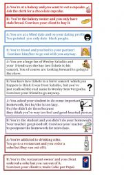 English Worksheet: Debate - Convince you friend about it