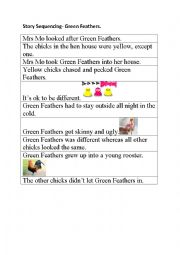 English Worksheet: Story Sequencing