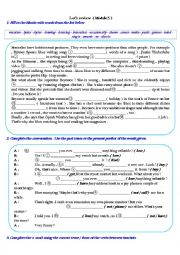 English Worksheet: MODULE 5 ENTERTAINMENT  review