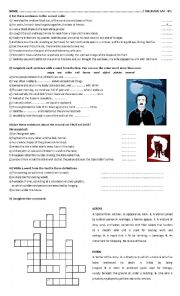 the black cat worksheet pdf
