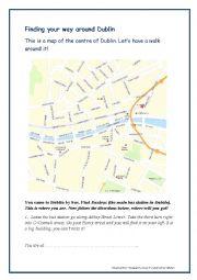 English Worksheet: A Walk Around Dublin - directions