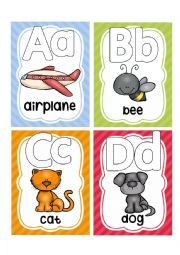 English Worksheet: ALPHABET FLASHCARDS