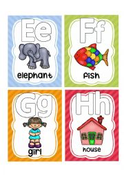 English Worksheet: ALPHABET FLASHCARDS 2
