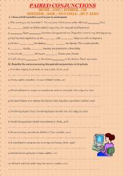 English Worksheet: Paired conjunctions