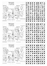 Toy wordsearch