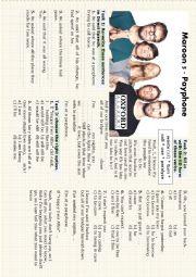 English Worksheet: Maroon 5 - Payphone