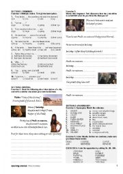 English worksheet: The mummy - opening scenes