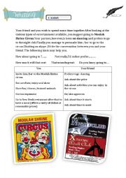 English Worksheet: Writing about Entertainment 9TH FORM : testing