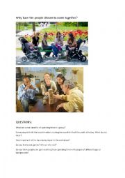 English Worksheet: FCE monologue