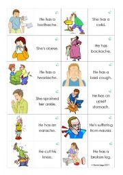 Health and Medicine Loopcards (Dominoes): 30 cards