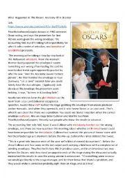 Oscar 2017 Mistake
