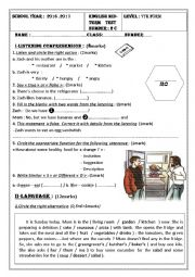 English Worksheet: 7th mid term test 2