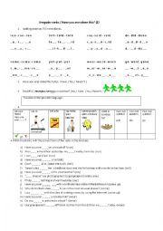 English worksheet: Irregular Verbs/ Have you ever...? Time filler 2