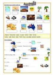 English worksheet: Australia Worksheet