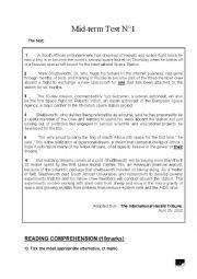 English Worksheet: 4th grade mid-term test 1