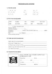 English Worksheet: Treasure Island activities