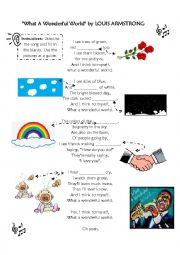 English Worksheet: Song: What a Wonderful World