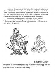 Power Ranger, Spiderman Easter facts, story and puzzle and coloring