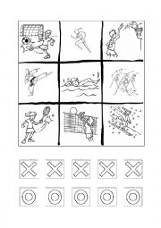English Worksheet: tic tac toe /noughts and  crosses SPORTS
