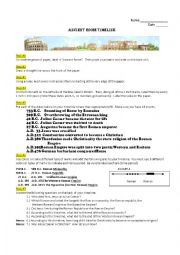 English Worksheet: Ancient Rome Timeline