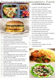 English Worksheet: picture-based discussion: Food
