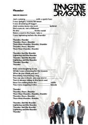 English Worksheet: Thunder by Imagine Dragons