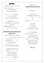 English worksheet: Song: Destiny by Stratovarius